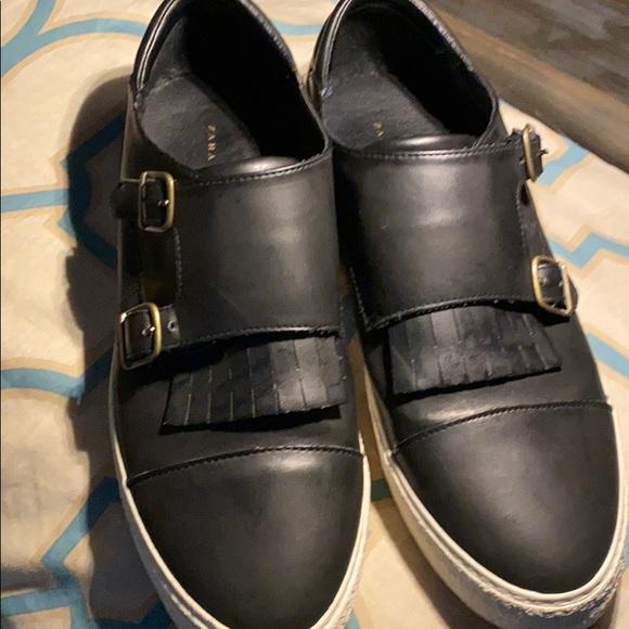 Zara Shoes | Double Monk Strap Sneakers